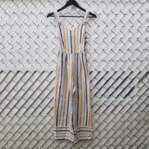 Japna sleeveless striped straight leg jumpsuit S